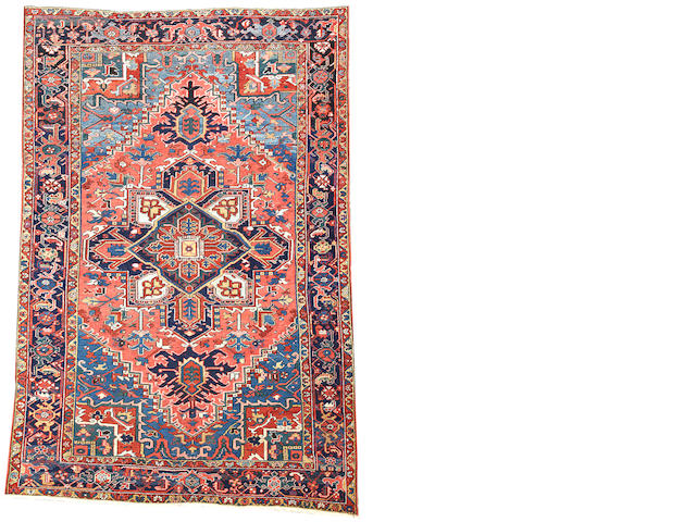 A Heriz carpet  Northwest Persia size approximately 6ft. 8in. x 10ft.