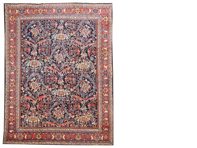 A Mahal carpet Central Persia size approximately 10ft. 5in. x 13ft. 8in.