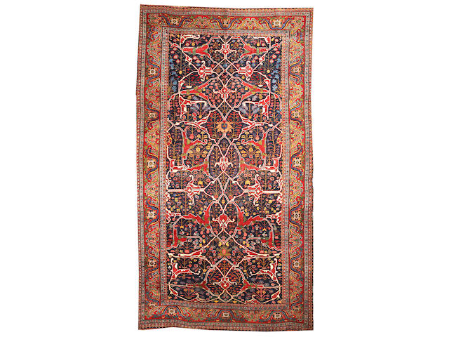 A Bijar carpet Northwest Persia size approximately 7ft. 6in. x 13ft. 8in.