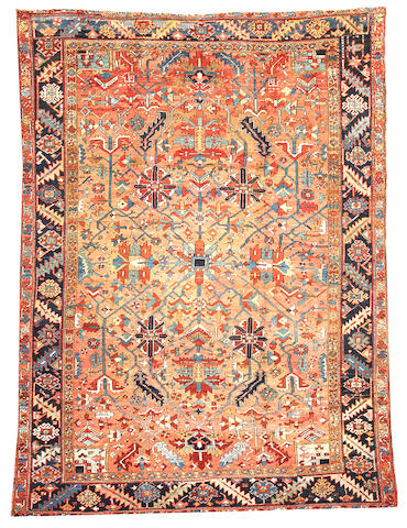 A Heriz carpet  Northwest Persia size approximately 9ft. x 12ft. 5in.