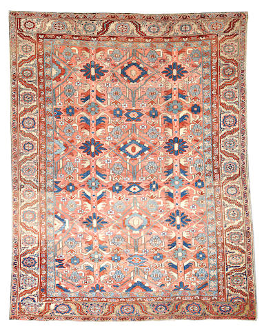 A Heriz carpet Northwest Persia size approximately 8ft. x 11ft. 6in.
