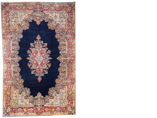 A Kerman carpet  South Central Persia size approximately 11ft. 4in. x 17ft. 8in.