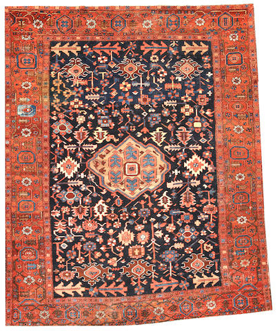 A Heriz carpet  Northwest Persia size approximately 10ft. x 12ft.