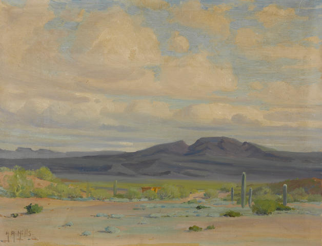 Anna Althea Hills (American, 1882-1930) Ajo Valley, Arizona 14 x 18in unframed