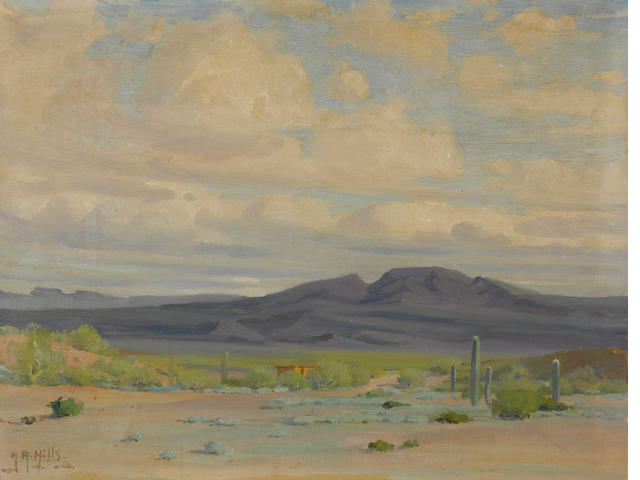 Anna Althea Hills (American, 1882-1930) Ajo, Arizona Ajo Valley, Arizona 14 x 18in unframed