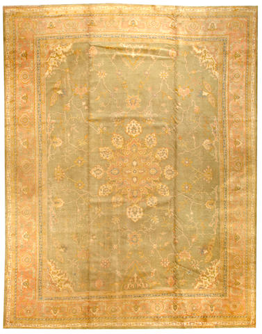 An Oushak carpet  West Anatolia size approximately 11ft. 3in. x 14ft. 5in.