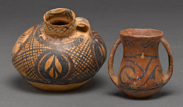 Two Neolithic pottery vessels Yangshao culture