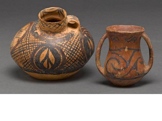 Two pottery jars Neolithic, Banshan/Yangshao