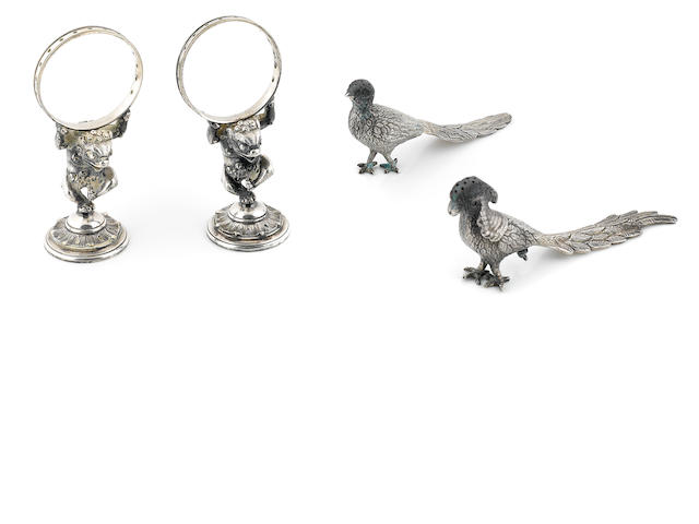 A group of sterling silver and silverplate dining accessories 20th century