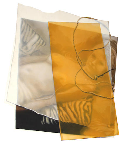 John Clem Clarke (American, born 1937) Girl on zebra (from T. Series), 1980 irregular 56 x 48in