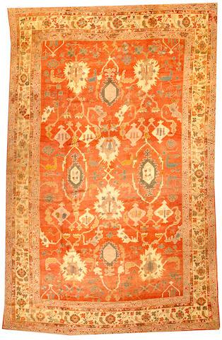 An Oushak carpet West Anatolia size approximately 10ft. x 16ft.