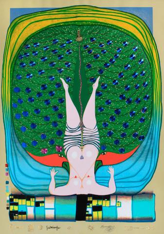 Friedensreich Hundertwasser (Austrian, 1928-2000); Homage to Schröder-Sonnenstern (Poster version);