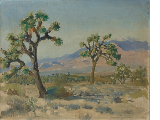 William Alexander Griffith (1866-1940) Joshua Trees 16 x 20in