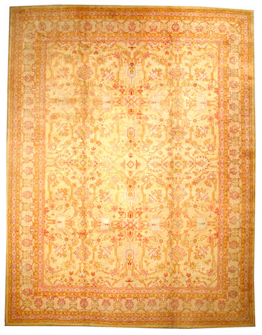 An Oushak carpet West Anatolia size approximately 12ft. 7in. x 16ft. 5in.