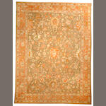 An Oushak carpet  West Anatolia size approximately 9ft. 8in. x 12ft. 7in.