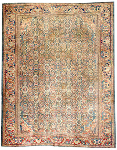 A Mahal carpet  Central Persia size approximately 10ft. 5in. x 13ft. 5in.