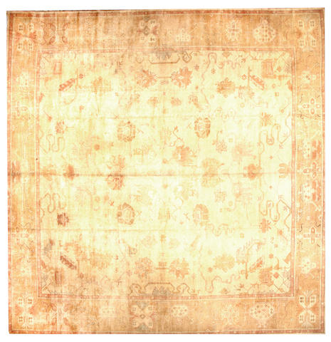 A Contemporary Oushak carpet  West Anatolia size approximately 14ft. 10in. x 15ft. 2in.