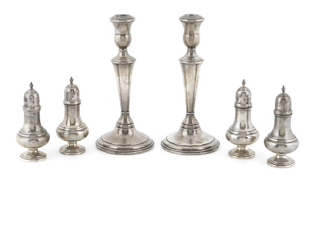 A group of American sterling silver table articles Mid-20th century