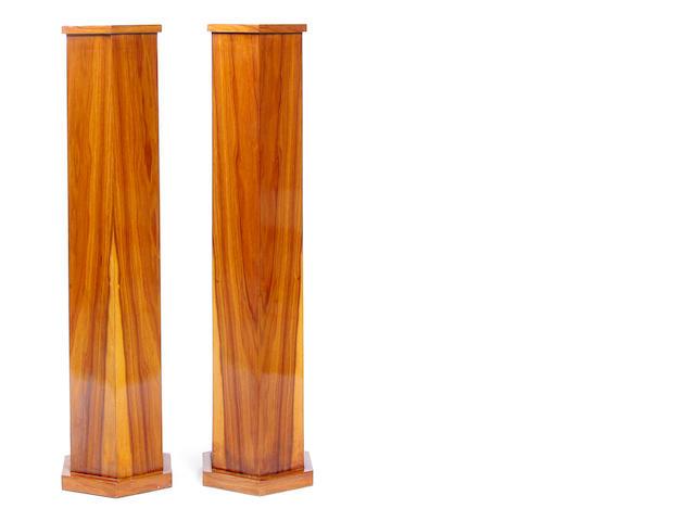 A pair of Art Deco style pedestals