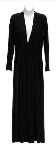 A Calvin Klein long black dress
