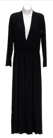 A Calvin Klein long black dress