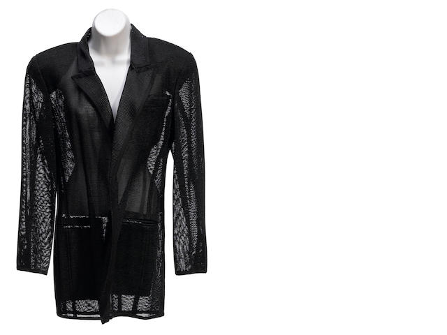 A Donna Karan midnight satin trim jacket