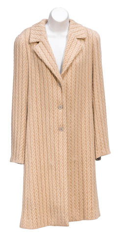 A Chanel tan coat