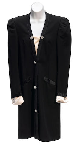 A Jacqueline de Ribes black tuxedo dress