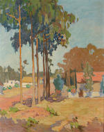 Attributed to Mary Orwig Everett (American A quiet street, Morro Bay 20 x 16in