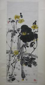 Jiang Mingxian (b. 1942) and Xie Zhiguang (1900-1976)  Two hanging scrolls