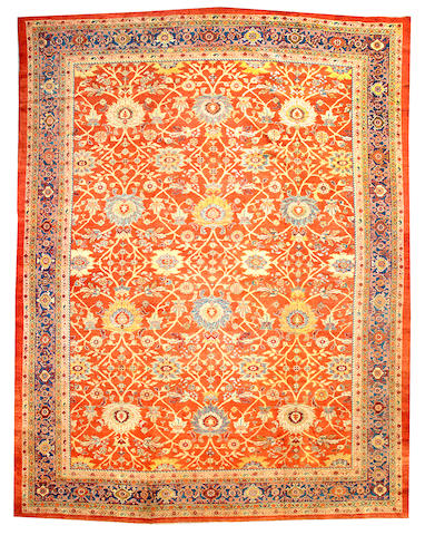 A Sultanabad carpet  Central Persia size approximately 10ft. 10in. x 14ft. 3in.