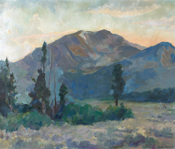 Barse Miller (American, 1904-1973) Mountain Landscape 21 1/2 x 26 1/2in