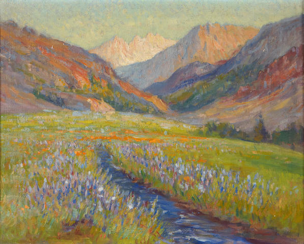 Frederick Carl Smith (1868-1955) Mountain Meadow / High Sierras 16 x 20in