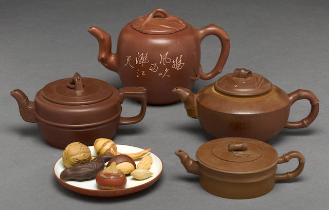 An assembled group of Yixing pottery