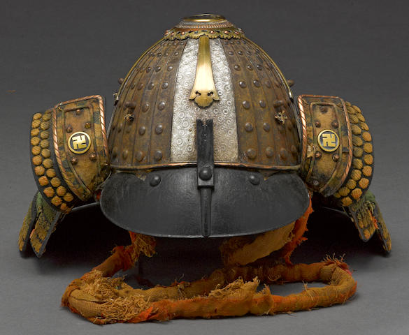 A silver and iron koboshi kabuto Mid-late Edo period