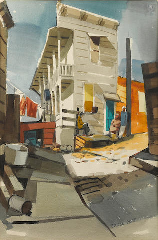 George Post (American, 1906-1997) San Antonio Place, Telegraph Hill, San Francisco 32 x 25in