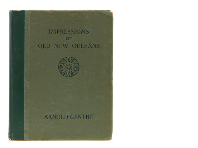 GENTHE, ARNOLD. Impressions of Old New Orleans. New York: George H. Doran, 1926.