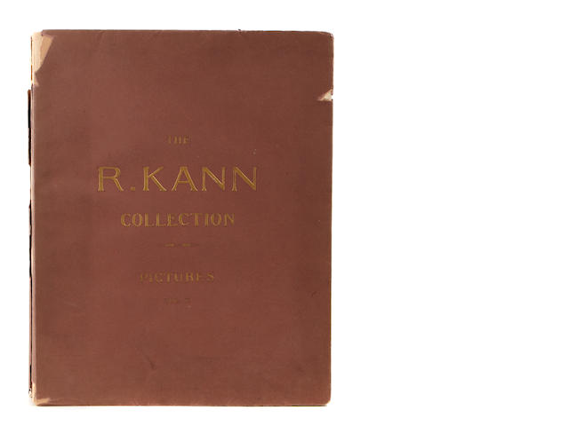 ART. Catalogue of the Rodolphe Kann Collection: Pictures. Paris: Charles Sedelmeyer, 1907.