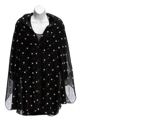 A Gianfranco Ferré sheer black and white polka dot jacket