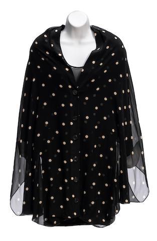 A Gianfranco Ferré sheer black and white polka dot jacket
