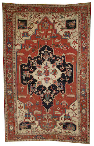 A Serapi carpet  Northwest Persia size approximately 9ft. x 14ft. 1in.