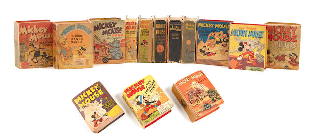 "MICKEY MOUSE. WALT DISNEY. 14 ""Big Little"" and ""Better Little"" books. Racine, WI: Whitman Publishing, 1933-45."