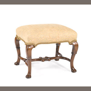 A George II walnut stool. second quarter 18th century