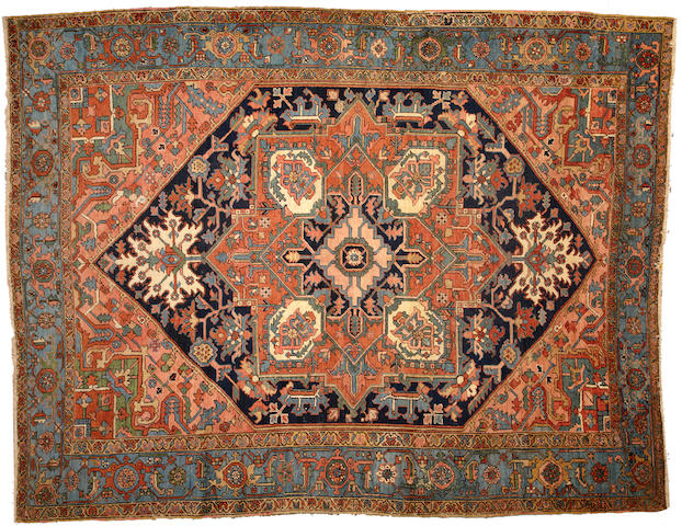 A Heriz carpet Northwest Persia size approximately 9ft. 1in. x 11ft. 9in.