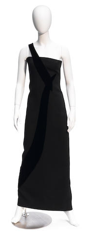 A Carolina Herrera long black dress