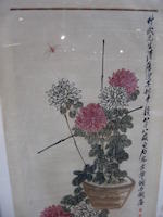 Attributed to Qi Baishi (1863-1957)  Chrysanthemums and Insects