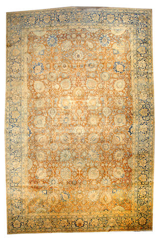 A Tabriz carpet  Northwest Persia size approximately 12ft. 4in. x 19ft.