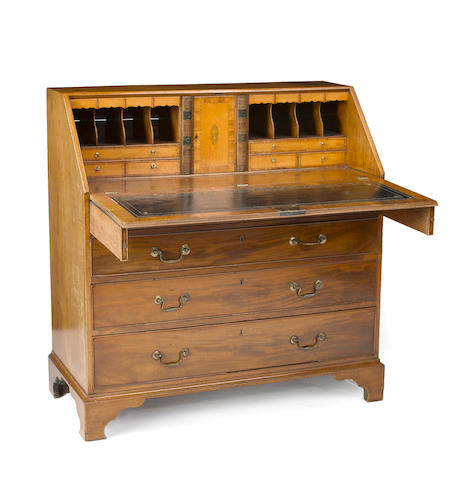 A George III mahogany desk  late 18th century