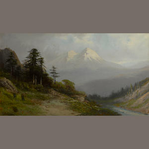 Frederick Ferdinand Schafer (German/American, 1839-1927) Mt. Shasta, California 20 x 36in