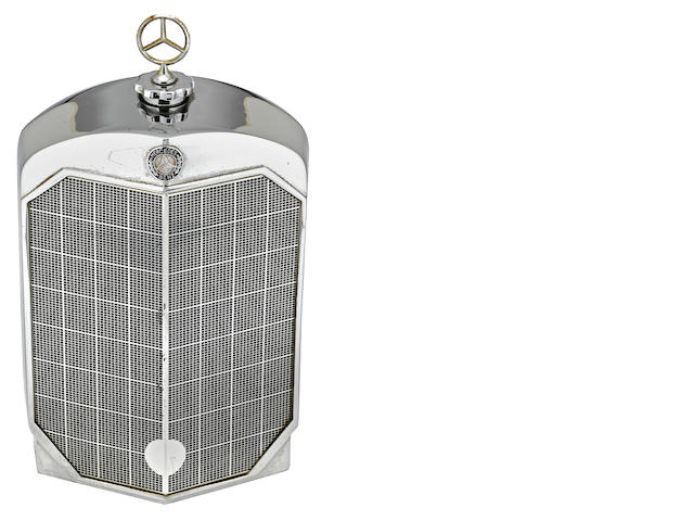 A Mercedes-Benz radiator decanter by Ruddspeed, British, c. 60s,